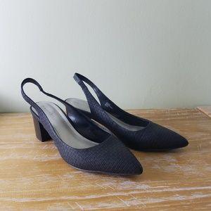 Tahari sling back block heels